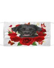 Labrador-Face Mask-Rose Cloth face mask front