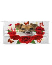 Jack Russell Terrier-Face Mask-Rose Cloth face mask front
