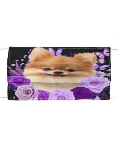 Pomeranian-Face Mask-Purple