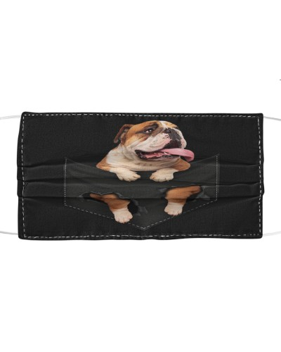 English Bulldog-Face Mask-Pocket