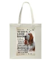 Basset Hound - Look Back Tote Bag thumbnail