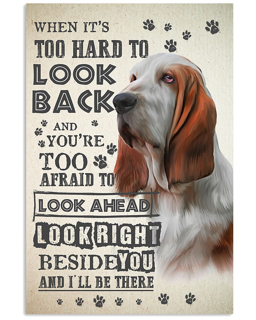 Basset Hound - Look Back 24x36 Poster