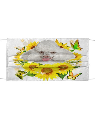 Poodle-White-Face Mask-Sunflower