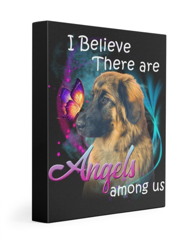 Leonberger-Canvas Angels