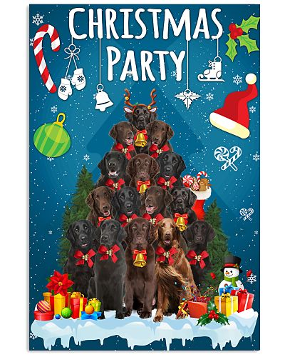 Flat Coated Retriever - Party