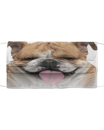 English Bulldog-Face Mask