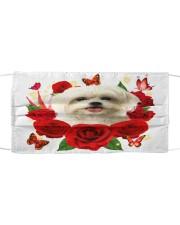 Maltese-Face Mask-Rose Cloth face mask front