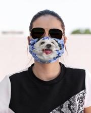 Coton De Tulear-Blue Mask Cloth face mask aos-face-mask-lifestyle-02