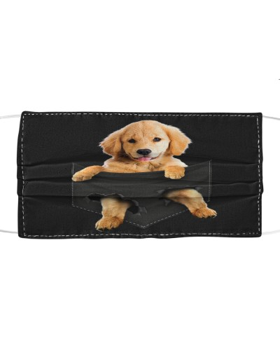 Golden Retriever-Face Mask-Pocket