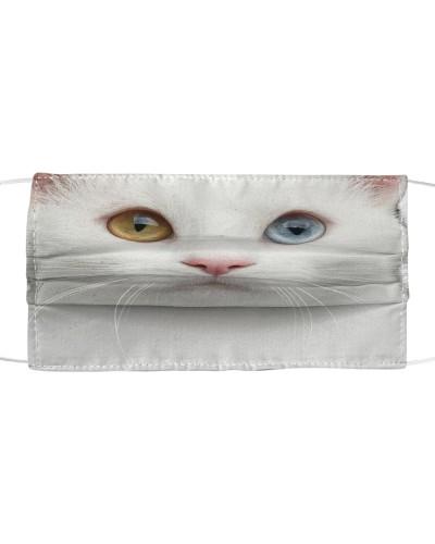 White Cat-Face Mask