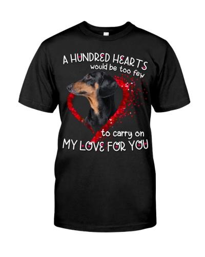 Dachshund-Hundred Hearts