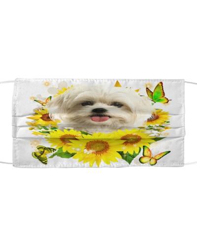 Maltese-Face Mask-Sunflower