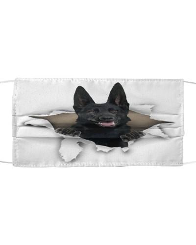 German Shepherd-Black-Face Mask-Torn02