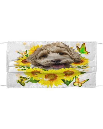 Labradoodle-Face Mask-Sunflower