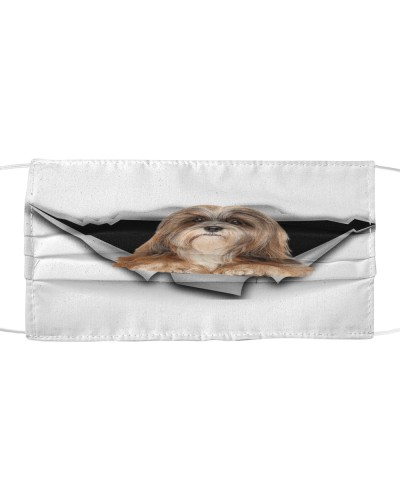 Lhasa Apso-Face Mask-Torn