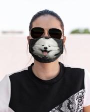 Samoyed-Hole Crack Cloth face mask aos-face-mask-lifestyle-02