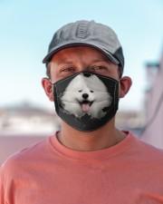 Samoyed-Hole Crack Cloth face mask aos-face-mask-lifestyle-06