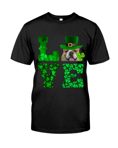 English Bulldog-Love-Shamrock