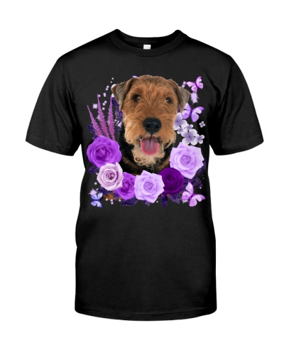 Welsh Terrier-Purple Flower