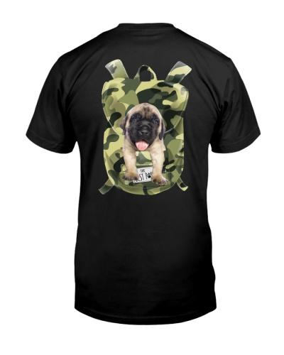 English Mastiff-Camo-Backpack