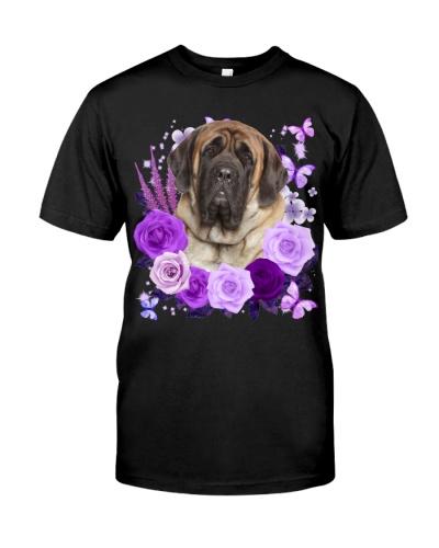 English Mastiff-Purple Flower