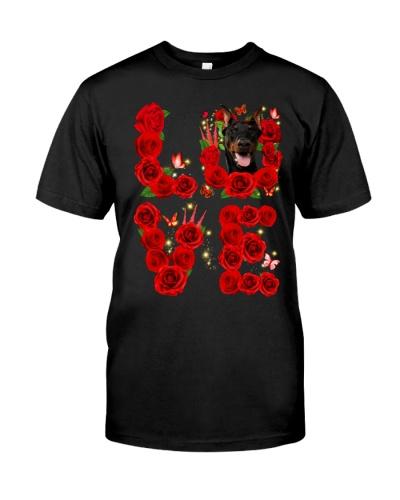 Doberman-Love Rose