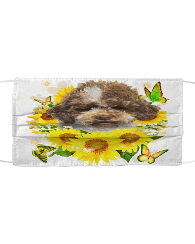 Lagotto Romagnolo-Face Mask-Sunflower