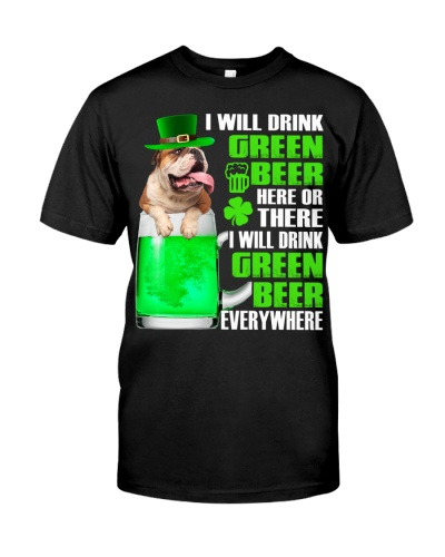 English Bulldog-Green Beer