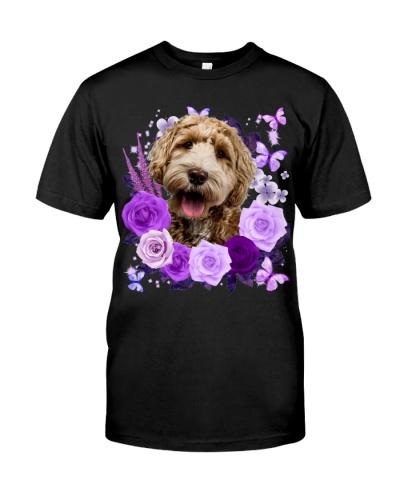 Labradoodle-Purple Flower