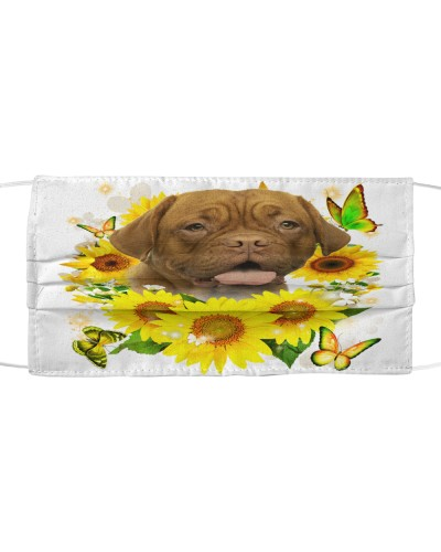Dogue De Bordeaux-Face Mask-Sunflower