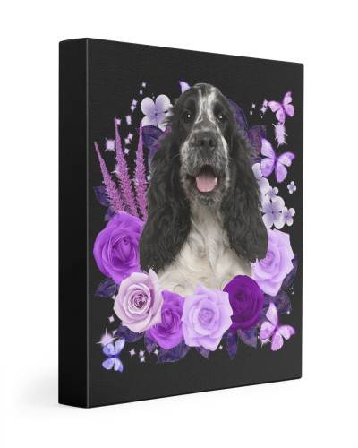 English Cocker Spaniel-Canvas Purple