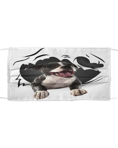 Staffordshire Bull Terrier-Face Mask-Torn07