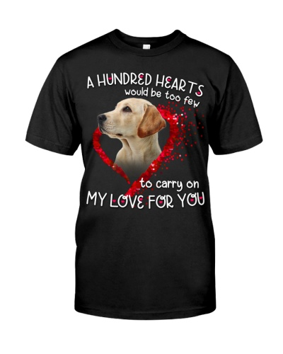 Labrador-Yellow-Hundred Hearts