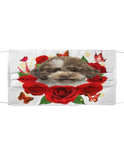 Lagotto Romagnolo-Face Mask-Rose