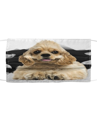 American Cocker Spaniel-Face Mask-Torn03