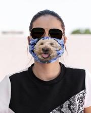 Goldendoodle-Blue Mask Cloth face mask aos-face-mask-lifestyle-02