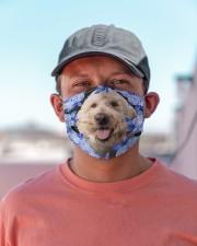 Goldendoodle-Blue Mask Cloth face mask aos-face-mask-lifestyle-06