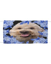 Goldendoodle-Blue Mask Cloth face mask front