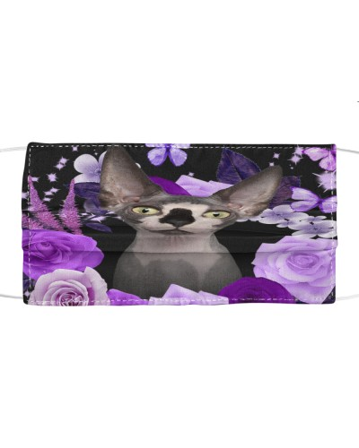 Sphynx Cat-Face Mask-Purple