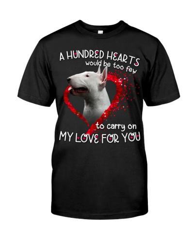 Bull Terrier-Hundred Hearts