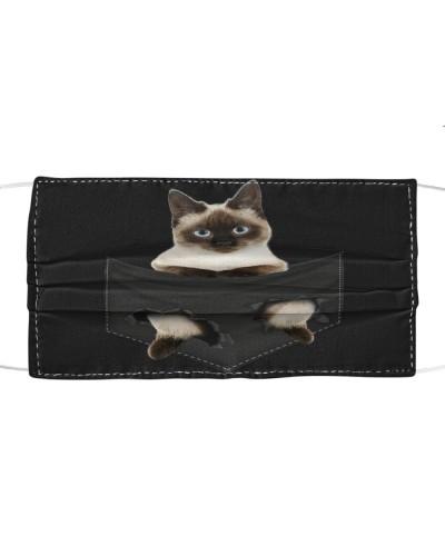 Siamese-01-Cat-Face Mask-Pocket