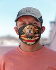 Golden Retriever-Mask USA  Cloth face mask aos-face-mask-lifestyle-06