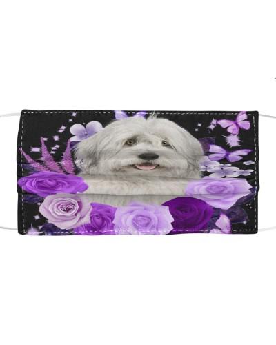 Old English Sheepdog-Face Mask-Purple