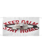 American Eskimo-Mask-Stay Home Cloth face mask front