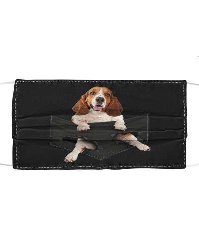 Basset Hound-Face Mask-Pocket