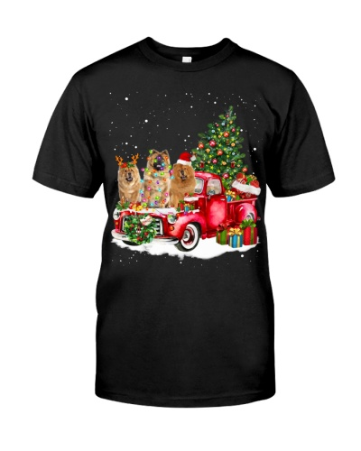 Chow Chow-Christmas Car