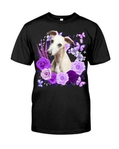 Whippet-Purple Flower