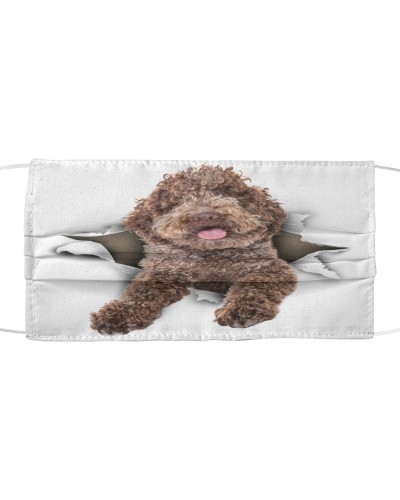 Lagotto Romagnolo-Face Mask-Torn02