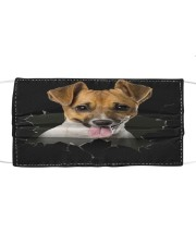 Jack Russell Terrier-Hole Crack Cloth face mask front