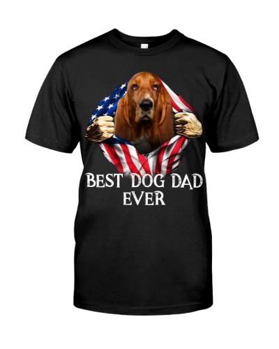 Basset Hound-Dog Flag-Dad